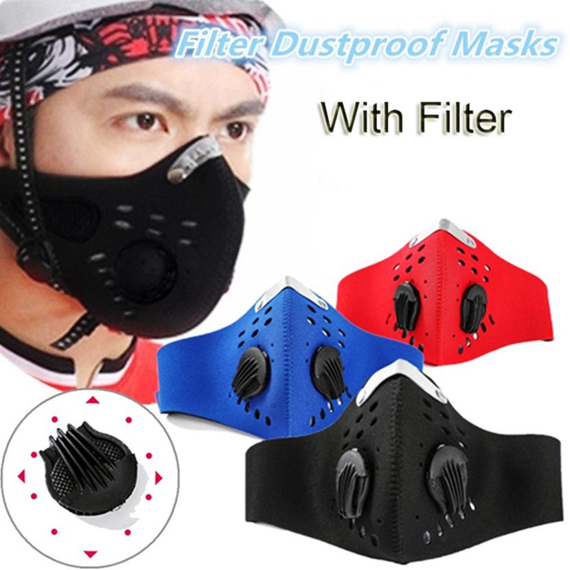 Stokta Yeniden kullanılabilir Yüz Yürüyüş Erkekler Kadınlar Damlacık Ağız Kapak toz geçirmez PM2.5 Açık Malzemeleri 3438 Koşu Bisiklet için Filtre ile maske