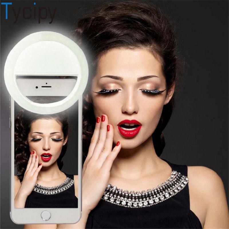 Selfie Ring Light USB recargable con clip 36 LED 3 niveles de iluminación de fotografía ajustable para teléfono inteligente Android Tablet Cámara Luz de relleno