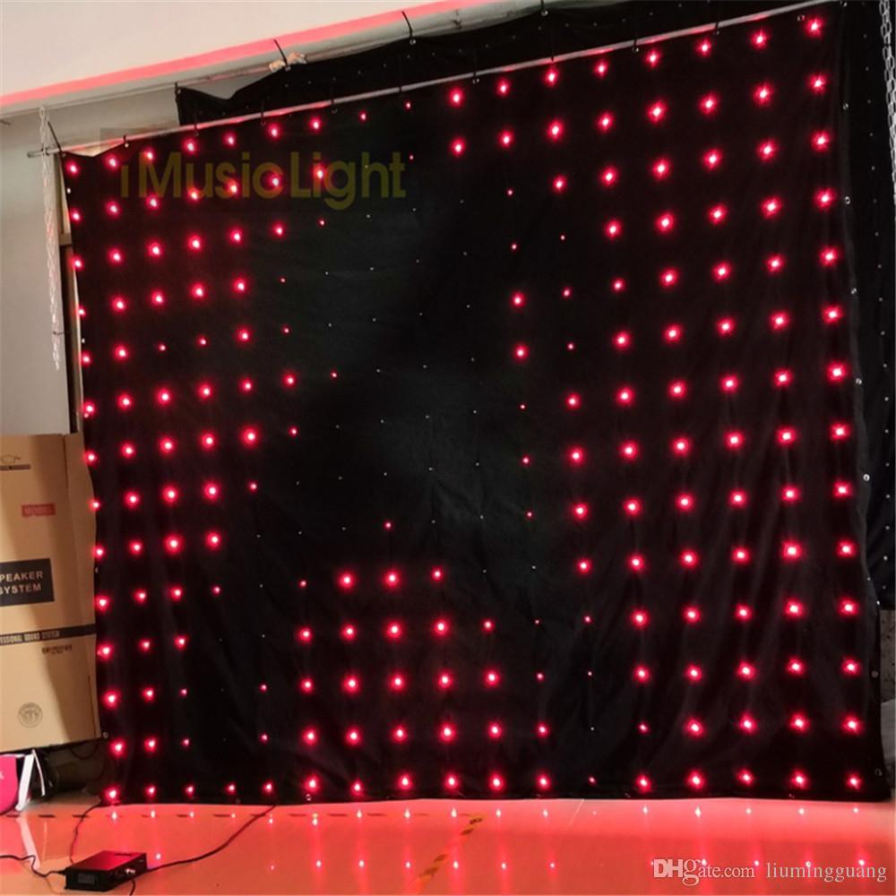 P18 2.5M * 3M LED فيديو الستار مع DMX تحكم 60 أنماط الرسوم المتحركة تأثير عيد الميلاد ضوء LED الستار الستار