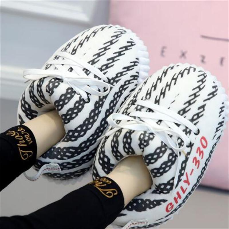 أحذية نسائية / رجالية الشتاء القطن لطيف الكرتون الحيوان الدافئة أحذية الرئيسية القطيفة المرأة ذكر رغوة احذية الخبز الدهون النعال حجم 35-44
