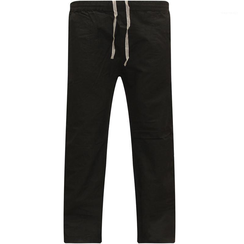 Com Bolsos calça casual mens solto cordão Mens designer de moda calças sólida calças Outono cor pura