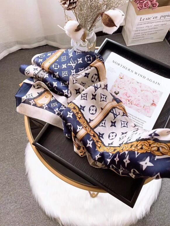 2020 satış yüksek kalite high-end lüks tasarımcılar ipek eşarp moda lady bahar ve yaz yeni baskılı eşarp 180 * 90 cm D002