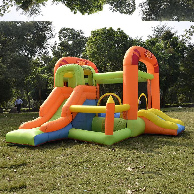 Popular Inflatable Tractor Bounce House With Slide Kids Dry Bounce Slide Castle For Family Use Small Moonwalk