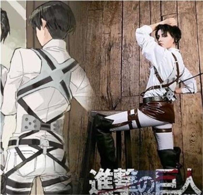 L'attacco dei Giganti Shingeki no Kyojin Recon Corpo cablaggio cintura Hookshot Costume cinghie regolabili cosplay cinture A447MX190923