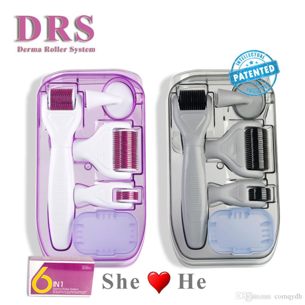 Nouveaux DRS Portable 6 en 1 Microneedle Derma Rouleau Anti Aging Soins de la peau anti acné rides Rajeunissement suppression CE