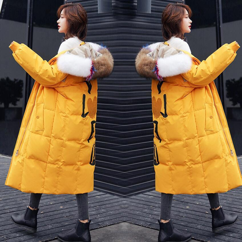 Cony Hair Female Down Jacket 90% Down Content Ladys Warm Thick Women's Pure Duck Jacket Women 2018 Winter Genuine Fur Coat