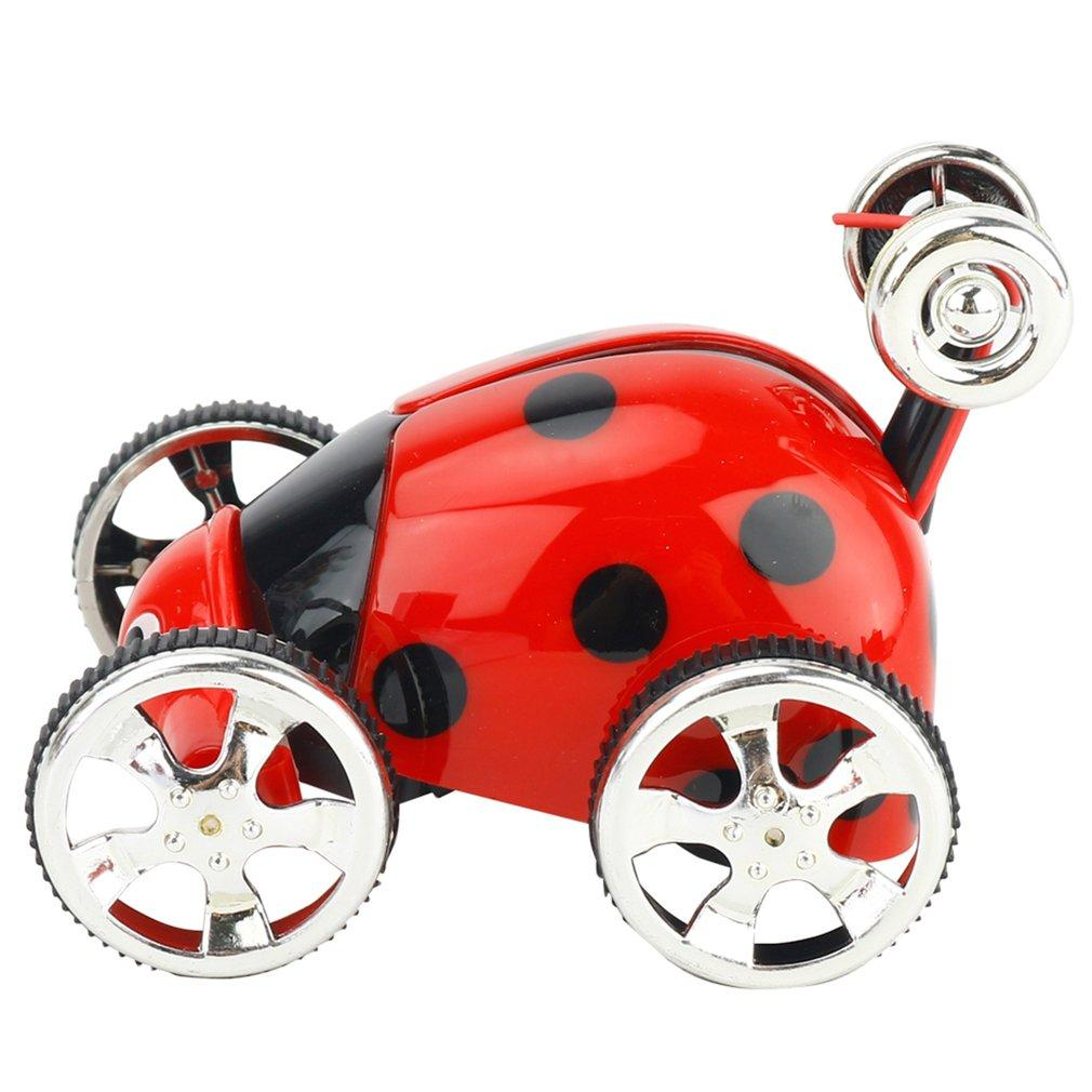 Cartoon 2CH Mini Stunt Toggle Trolley Radio Control Rolling RC Car 360 Rotation Stunt Flip Car Remote Control Toys Boys Gift
