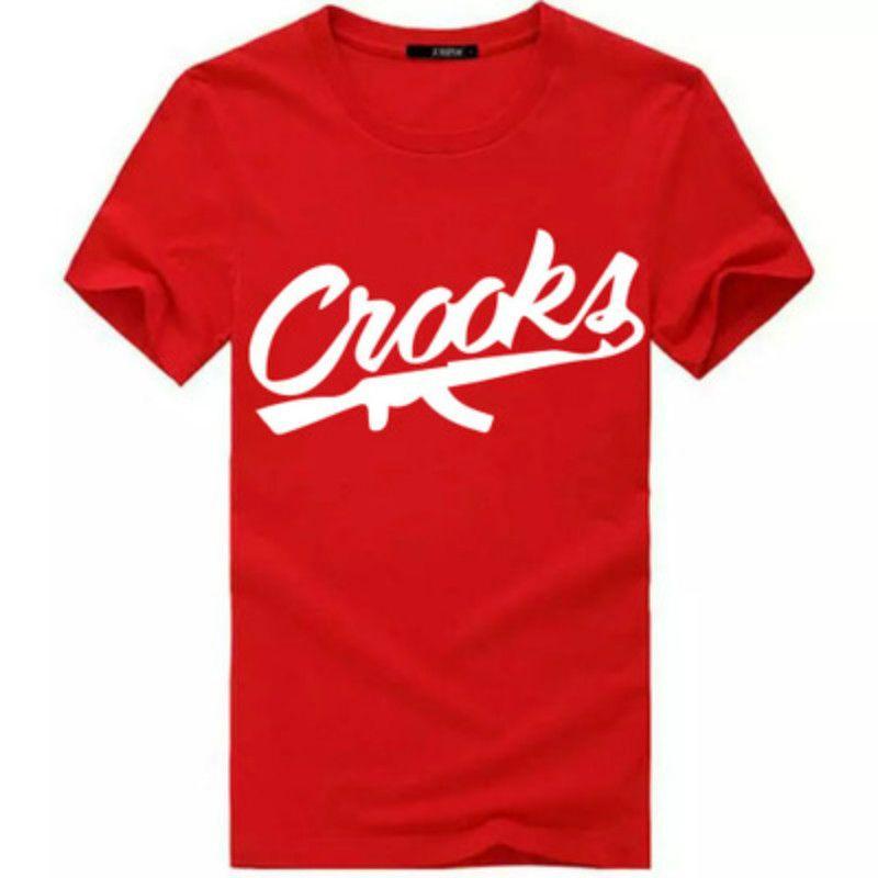 Crooks and Castles T Shirts Men Short Sleeve Cotton Fashion Man T-Shirt CROOKS Letter Male T Shirt Tops Tee Shirt Size S-3XL