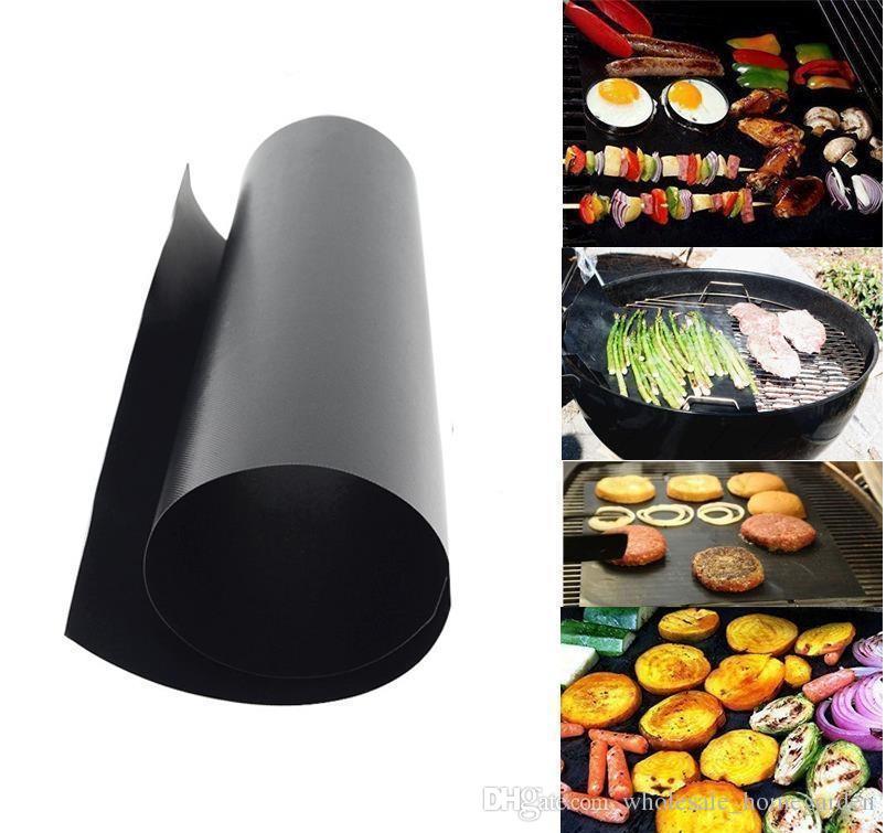 바베큐 굽는 라이너 바베 큐 구리 그릴 매트 휴대용 비 스틱 및 재사용 가능한 쉽게 굽고 만들기 33 * 40 CM 블랙 골드 오븐 뜨거운 번호판 170502