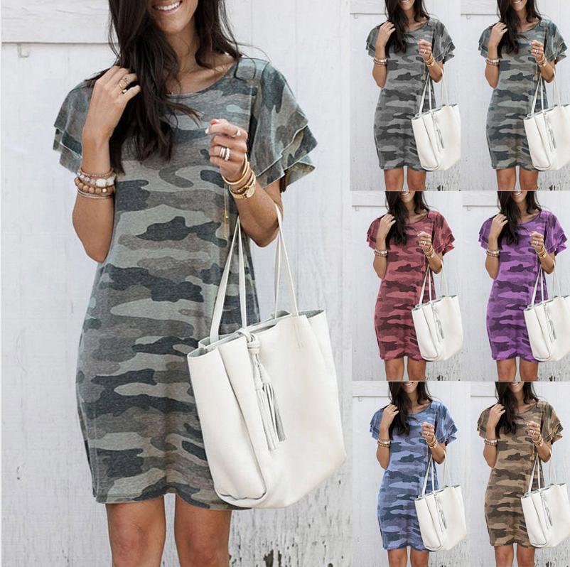 Vestidos de las mujeres de moda de verano nuevo estilo de la llegada de los vestidos de alta calidad de impresión de lujo diseñador de las mujeres Vestidos de diseño las mujeres de verano de lujo de 6 colores