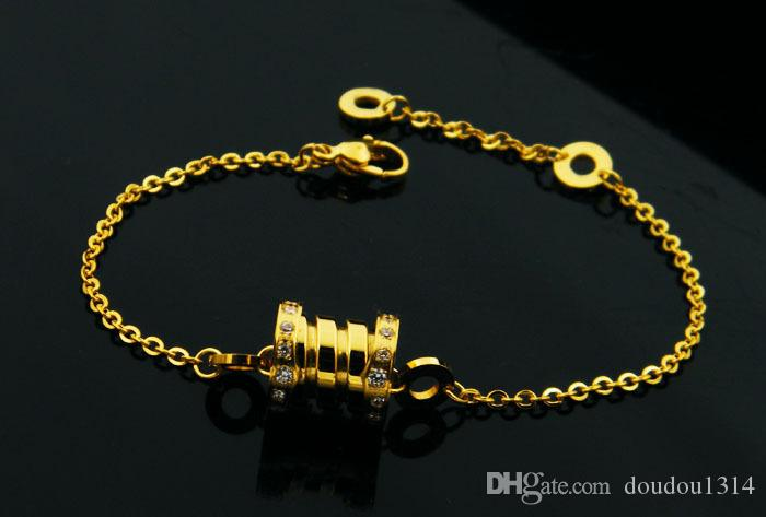 de haute qualité 316L or en acier inoxydable plaqué cz bracelets de printemps en pierre bracelets pour les femmes nouvelle arrivée vente chaude bijoux de luxe