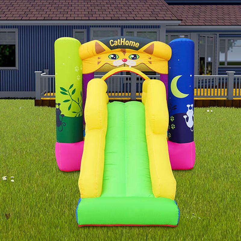 Inflatable Castles Australia Cat Home Bounce House With Slide Inflatable Castles For Sale Australia Cat Home Bouncer Combo With Dry Slide