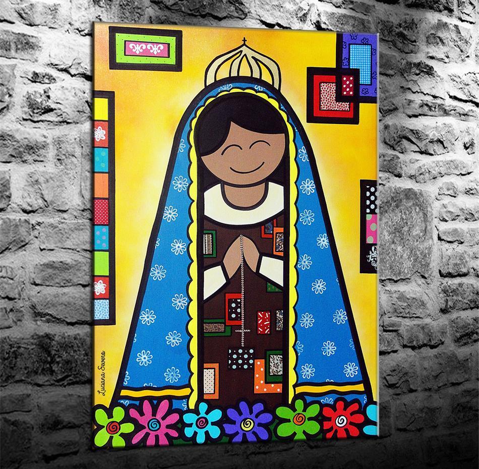 Nossa Senhora Romero Britto, HD Impresión de lienzos Nueva decoración del hogar Arte Pintura / (Sin marco / Enmarcado)