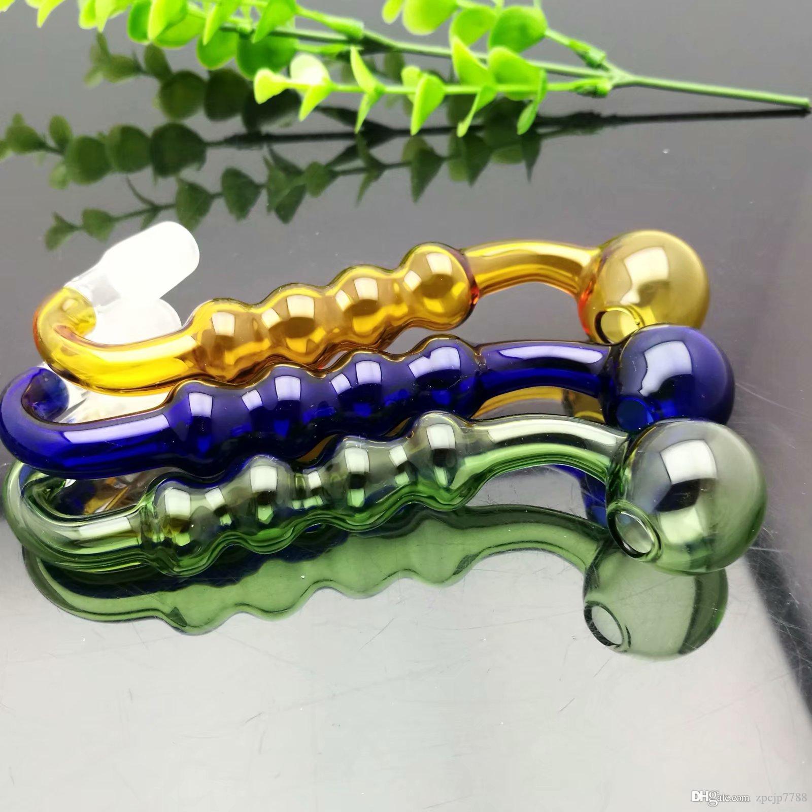 10 мм цвета 4 непрерывно замачивание S горшок Оптовое стекло кальян, стекло вода Фитинги, сигареты, Бесплатная Shippin