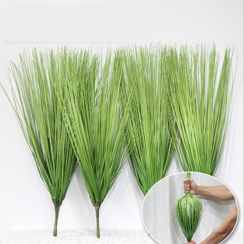 2020 Artificial Shrubs Bushes Plastic Wheat Grass Green Leaves