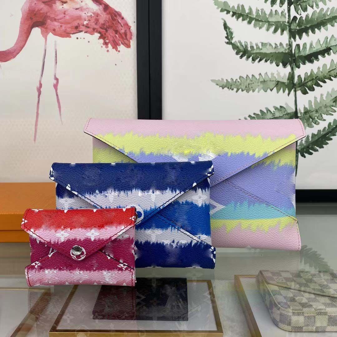 3 Adet Kombinasyon Moda Çanta Üst kadın Çanta Kadınlar Debriyaj Çanta Cüzdan Çanta Kutusu ve Toz Çantası ile 69119 Pochette Kirigami