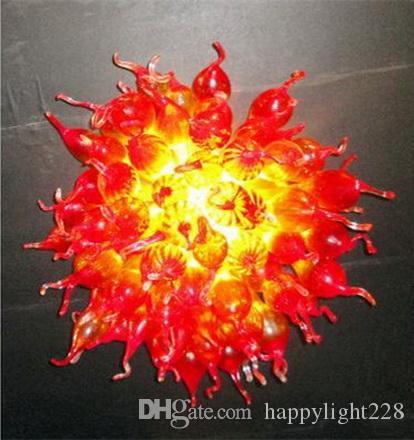 Nuovo arrivel Soggiorno lampadario fatto a mano lampadario in vetro soffiato cristallo UL CA 110-240V LED Lampadario CE