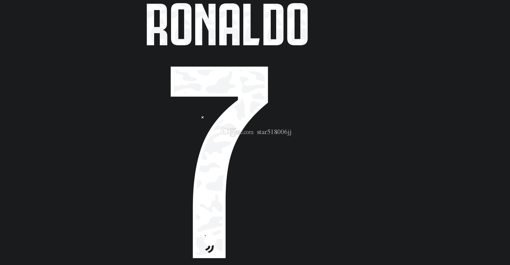 19 20 JUV Accueil football d'impression ensemble de noms chaud # 7 RONALDO BUFFON autocollants estampage du joueur Dybala numérotation des lettres de football imprimés