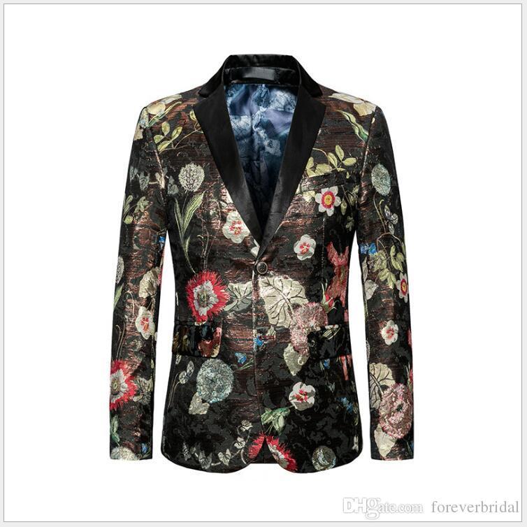 Mode Männer Casual Einreiher Anzüge Blazer Große Größe M-6 XL One Button Frühling Herbst Jacken Ein Stück Für Opp Tasche