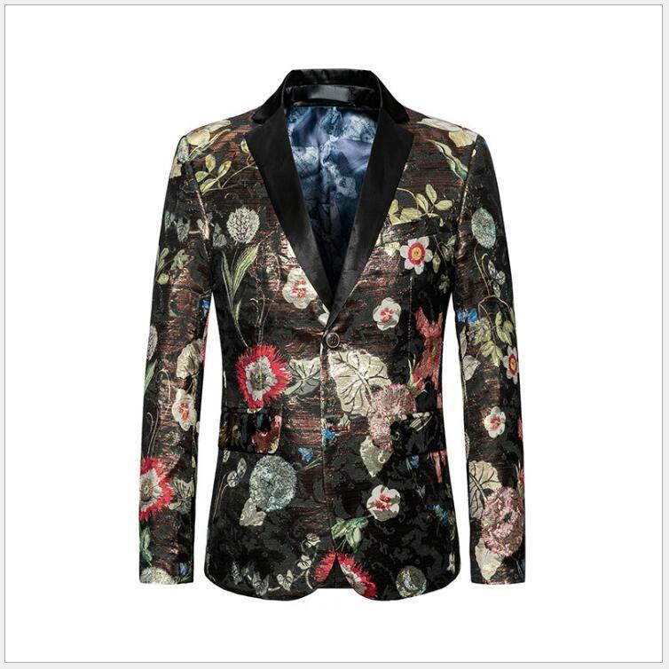 Moda hombre Casual solo trajes de pecho Blazers de gran tamaño M-6 XL un botón primavera otoño chaquetas de una pieza para Opp Bag