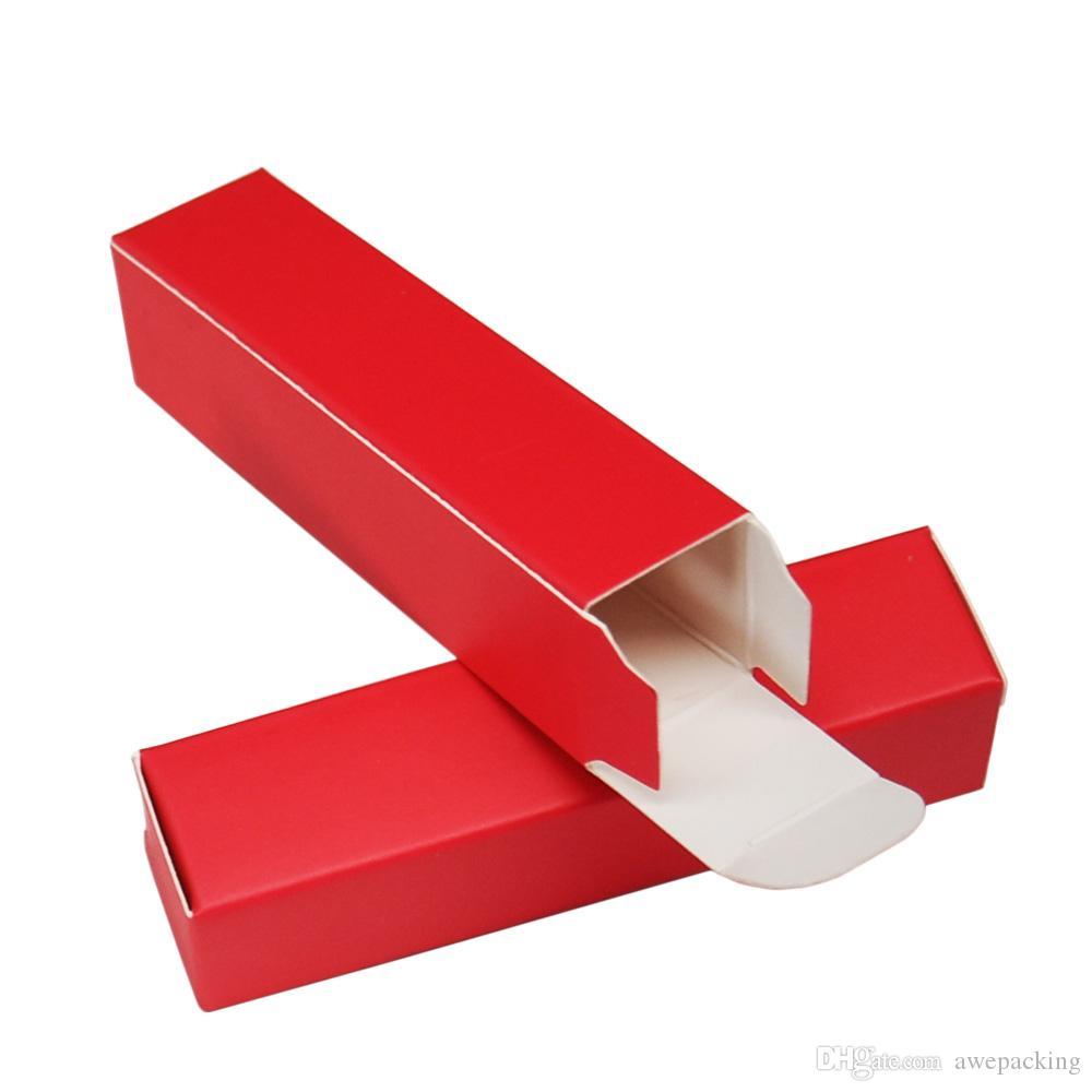 2 * 2 * 8.5cm lápiz labial rojo Paquete Regalo Papel Kraft Mini botella de perfume de embalaje de cajas de cartón para regalo de boda Cardpaper caja 50pcs / lot