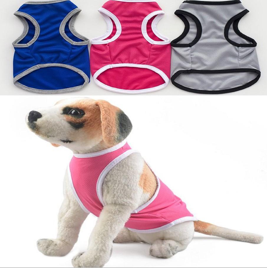 작은 개 조끼 통기성 강아지 애완 동물 옷을 귀여운 강아지 의류 블루, 핑크, 회색 옵션 YW373 메쉬