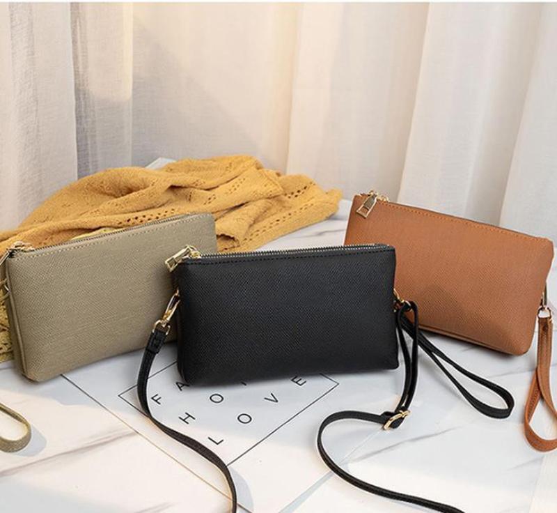 Designer de marca dois zíperes sacos de ombro carteiras bolsa embreagem com pulseiras sacos crossbody cross body pu embreagem bolsas bolsas 8886