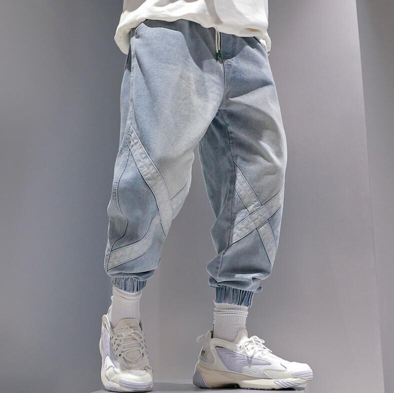 Alta Qualidade Marca Quente e veludo plus size Jeans Men Tide Outono E Inverno 2019 New coreano tendência solto Hip Hop Grupo do Pé Harem Pants