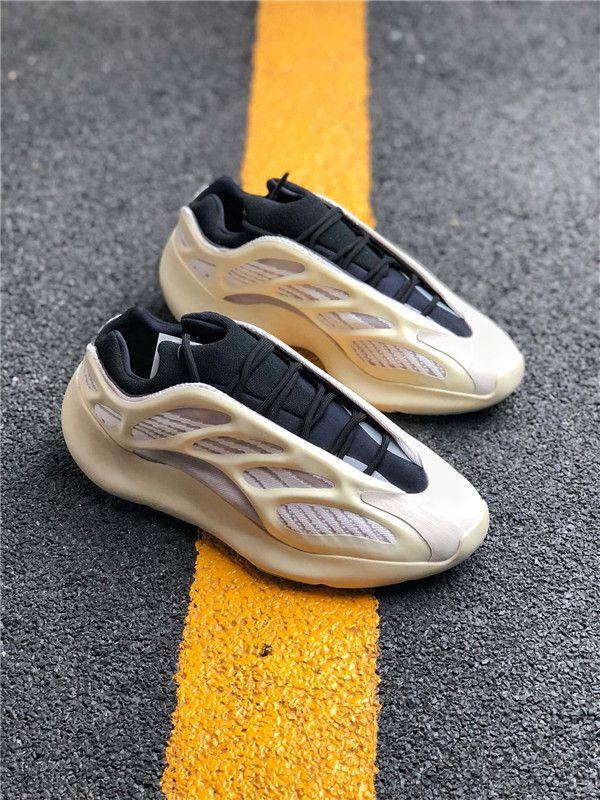 2019 Atacado 700 V3 Azael Black White 3M reflexiva Kanye West das mulheres dos homens Running Shoes Sports Sneakers