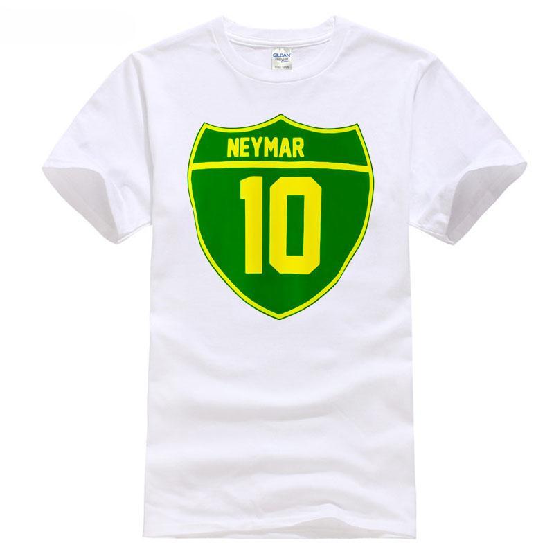 2019 Soccersing World Neymar Of Brazil Crest Tee New T Shirt Good Russian Footballer Sportsing Cup