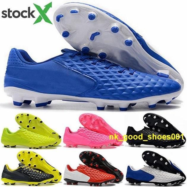 las mujeres el tamaño de US 12 FG verdes 8 Leyenda botas para hombre baratas Tiempo AG Hombres VIII grapas de bola de los cabritos de los zapatos EUR de fútbol de fútbol 46 tenis de la nueva llegada de 2020