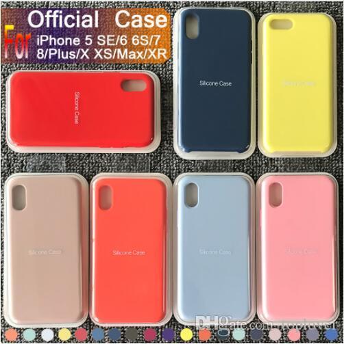 2019 Nouveau modèle Coque d'origine silicone pour iPhone 11 Pro Max 7 8 Plus téléphone pour l'iphone XS X 6 6S Plus Avec Retail Box