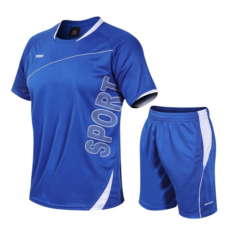 QNPQYX новый спортивный костюм мужчины лето горячие продажи мужские наборы футболки + шорты из двух частей наборы повседневный спортивный костюм мужской O-образным вырезом твердые спортивная одежда M-5XL
