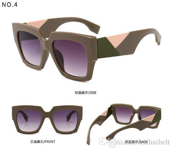 0263 Popular Sunglasses Luxury Designer di marca per donna 0263Square Summer Style Full Frame Protezione UV di alta qualità Colore misto Come With Box