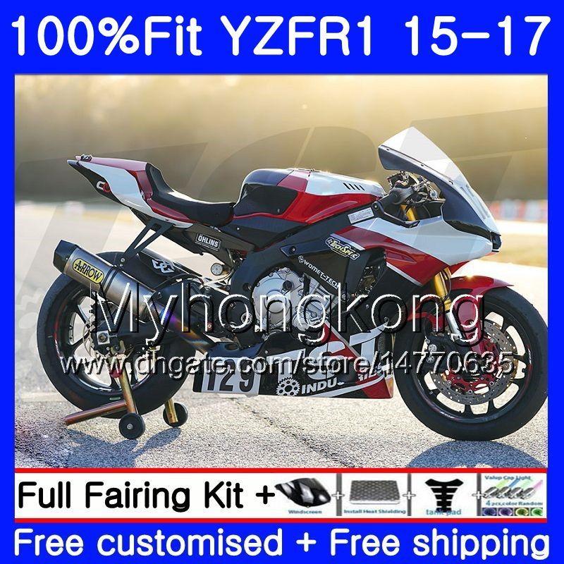 사출 바디 YAMAHA YZF-1000 YZFR1 2015 2016 2017 화이트 243HM.37 YZF R 1 1000 블랙 라이트 YZF-R1 YZF1000 YZF R1 15 16 17 페어링 키트
