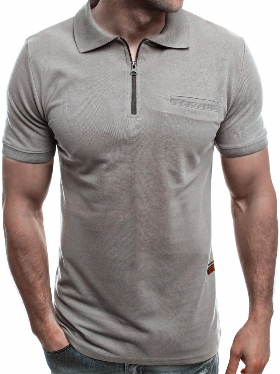 Mens Casual Slim Fit Polos Short Sleeves Polo Shirts