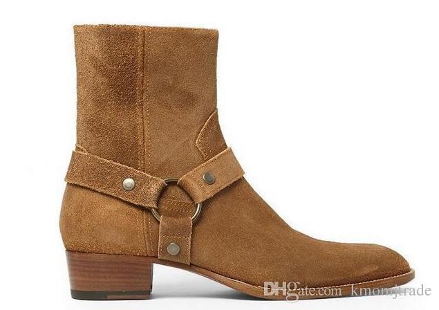 Man Offizielle Qualitäts Mode Slp Klassische Wyatt 40 Harness Stiefel aus schwarzem Leder Personalisierte Herren Martin Stiefel Cowboystiefel