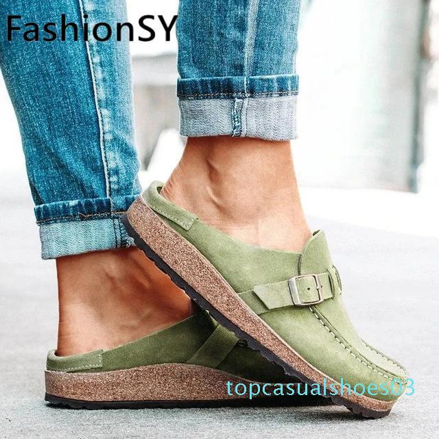 été 2020 sandales automne boucle de mode pour femmes appartements chaussures chaussures de sport femme sandales femmes taille plus t03