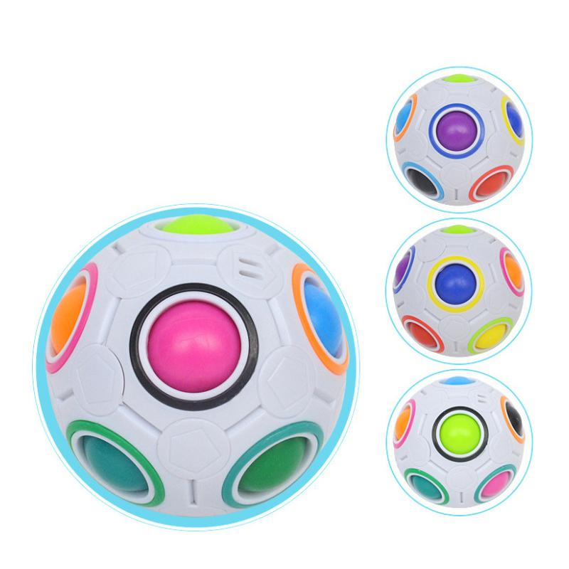 Hottest 7CM Magic Star ball Rainbow Ball Football Cube Decompression Finger Toys Children Adult Christmas Gifts