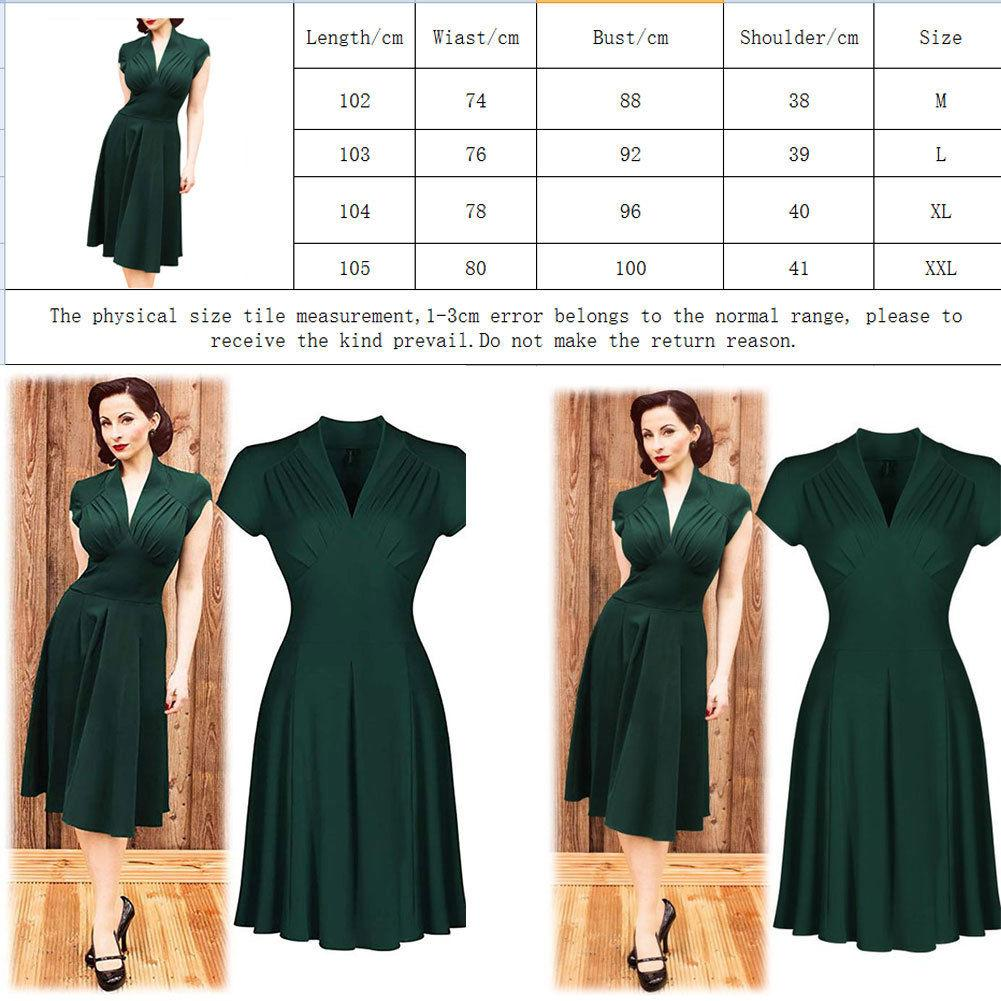 2019 Newest Hot Vintage Style Retro 1940s Shirtwaist Flared Party Elegant Women Dress Summer Dress Swing Skaters Size 8 18 From Xiatian6 15 56 Dhgate Com