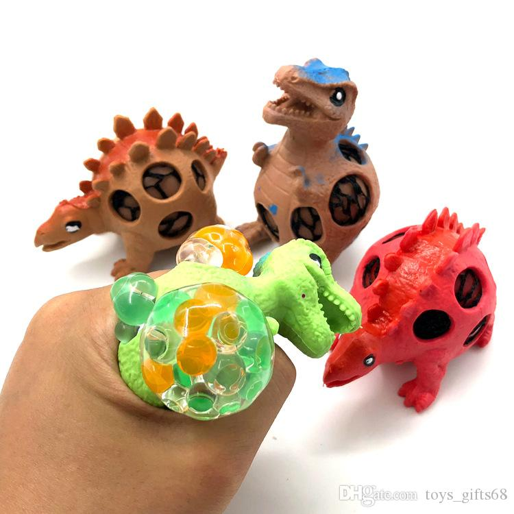Creativo sfiato dinosauro posa delle uova uva bambini sfera di decompressione adulto spremitura musica bancarelle del mercato di notte di vendita calda giocattoli
