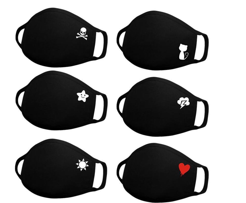 멀티 스타일 입 마스크 애니메이션 만화 얼굴 안티 먼지 입-머플 빨 남여 재사용 귀여운 안티 Bacterical 먼지 마스크 마스크