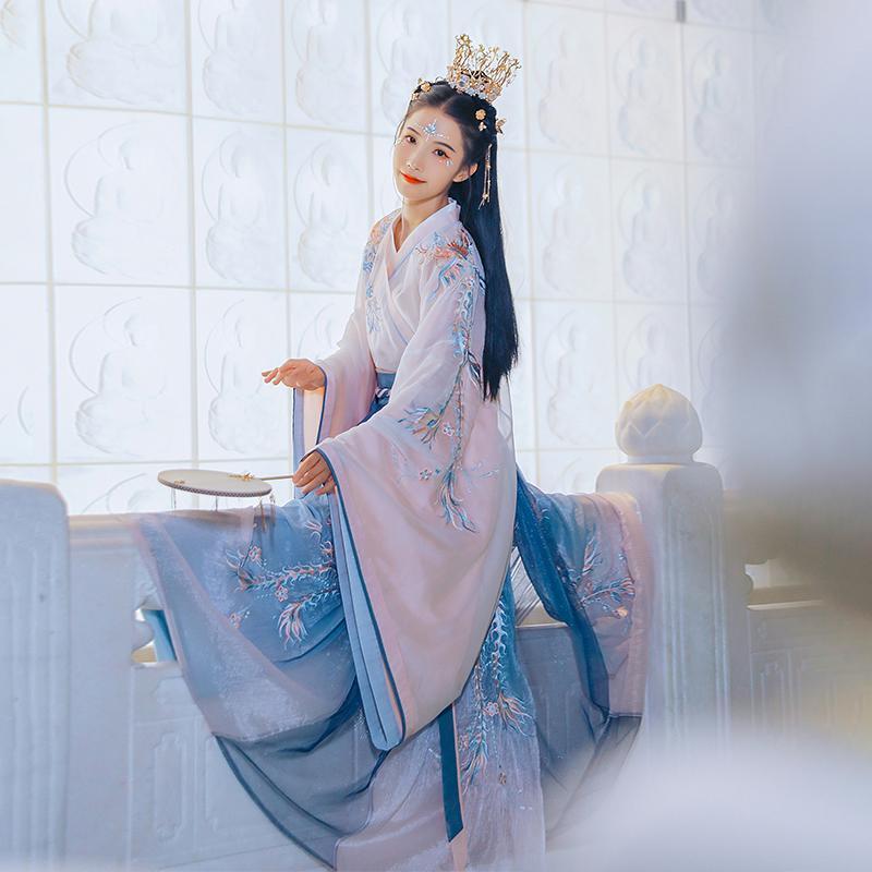 جديد تأثيري هانفو القديمة الصينية زي أسرة تانغ البدلة الشعبية اللباس الجنية لملابس النساء الأميرة مهرجان تتسابق ملابس الرقص اليومية