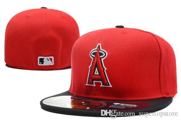 Toptan Erkek Angelss Kırmızı Renk Gömme Şapkalar Düz Brim Şapka Gorras Kemikler Masculino Spor Yaz Boyut Chapeau Ucuz On Saha Sport Caps