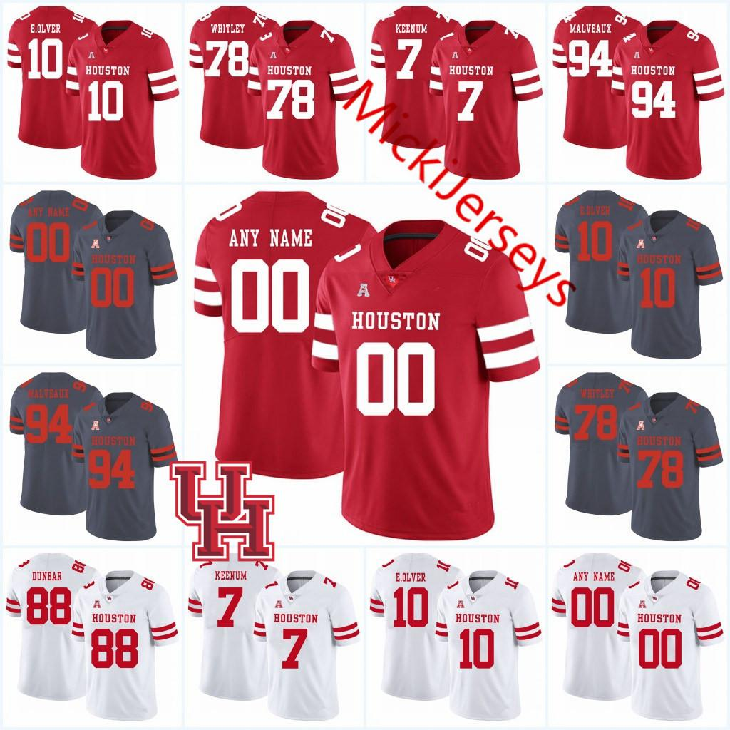 lowest price b18f5 c8e50 2019 Custom NCAA Houston Cougars College Football Jersey Grant Stuard DEriq  King Case Keenum Ed Oliver Jr.David Anenih Terence Williams Jersey From ...