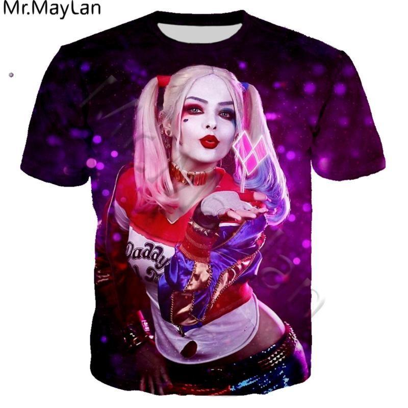 Suicide Squad T-shirt Homme Femme HAHA T-shirt 3D Quinn Imprimer Joker Shirt Casual Summer O-Neck Tee shirt Tops