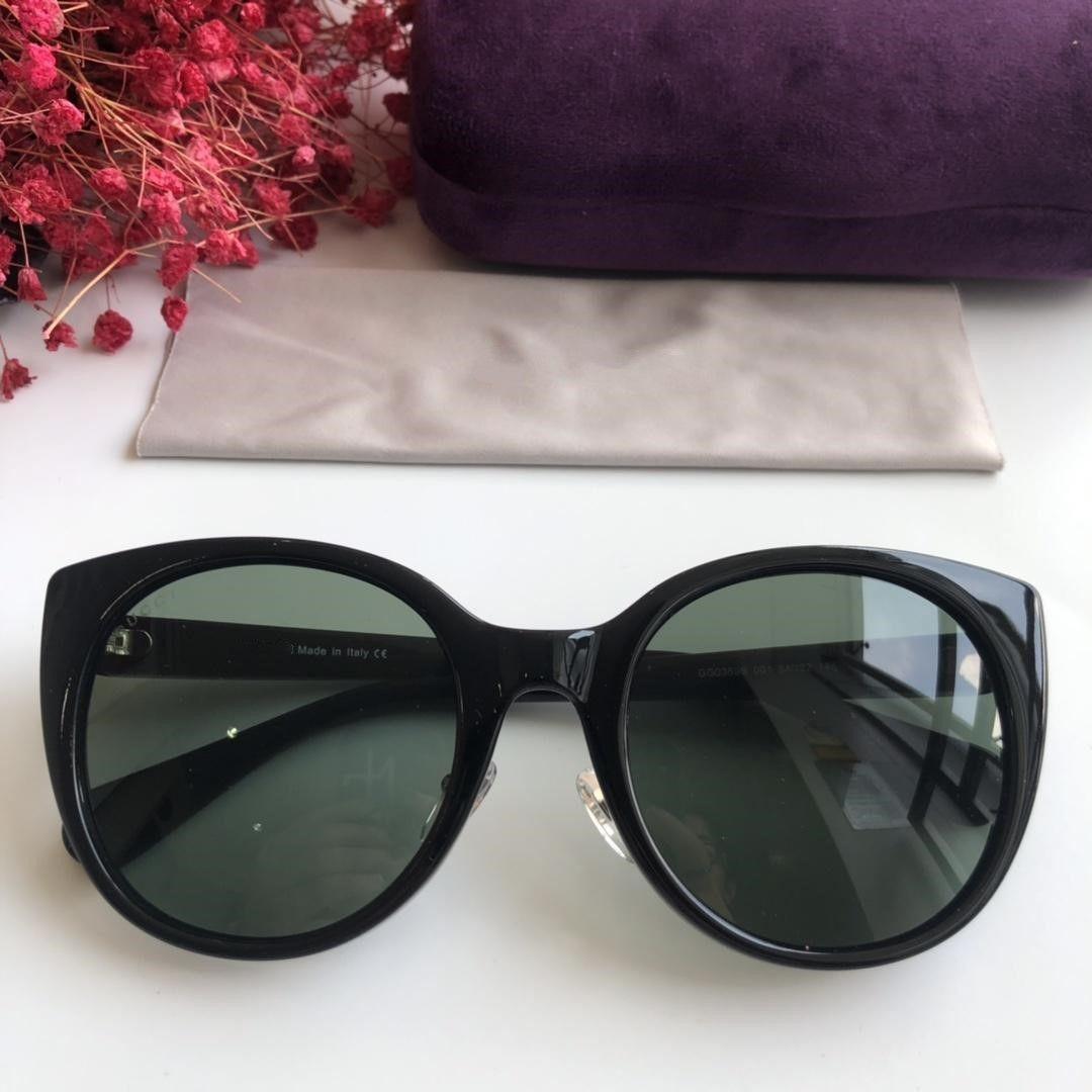 0369S Солнцезащитные очки голубого / коричневого цвета с серым оттенком Очки Cat eye 0369 sonnenbrille Роскошные дизайнерские солнцезащитные очки Очки Новые с коробкой