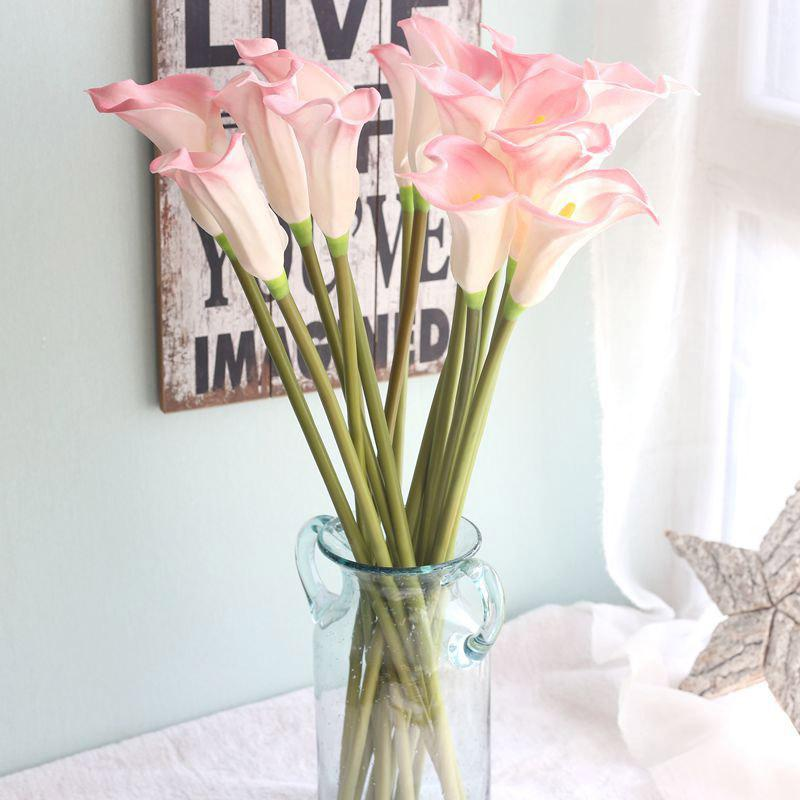 Свадебный букет из искусственной каллы с лилией Latex Real Touch Home Party Office для рабочего стола Искусственный искусственный искусственный цветок