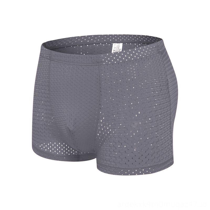 Best price Mens big boxer shorts sexy Men's Underwear Underwear ice silk bamboo fiber breathable mesh youth boxer short summer
