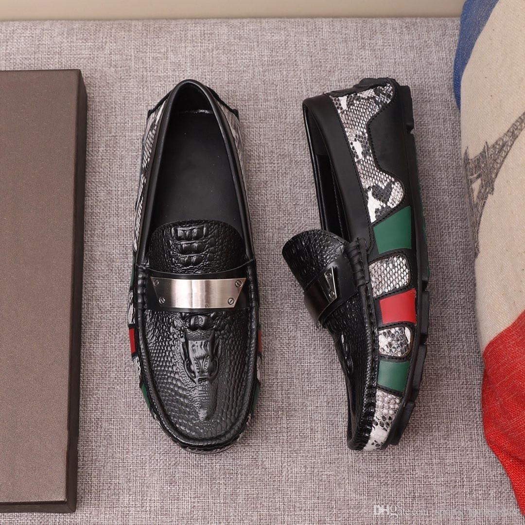 stile sports_runingshoe marca degli uomini s vestito casuale, partito fannulloni scarpe Cowskin singola scarpa Slip On parte di nozze, Italian Shoes mens disegno